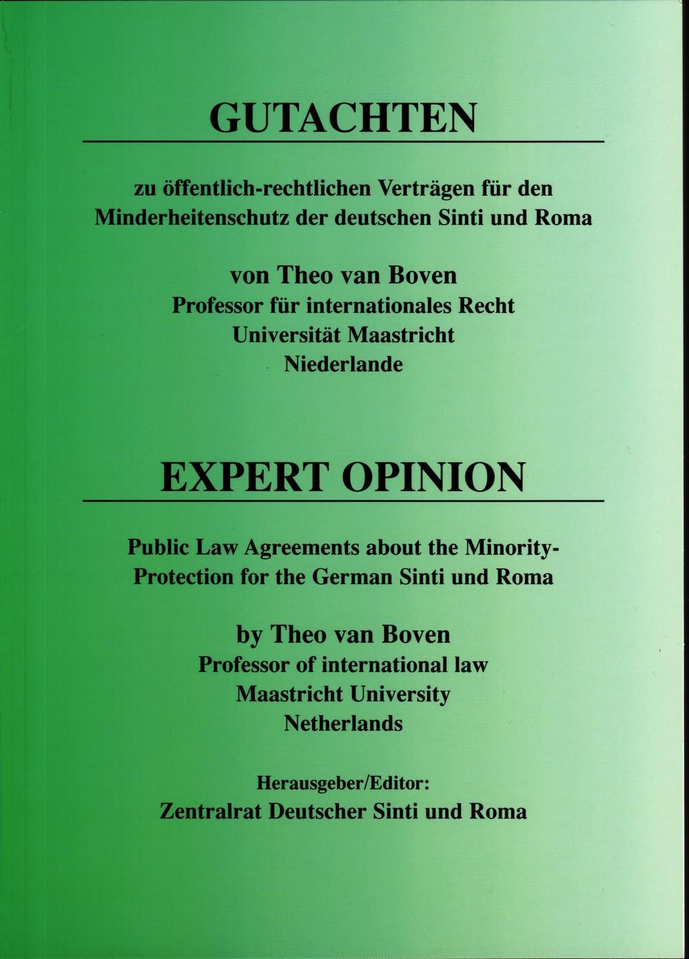 Gutachten Theo van Boven