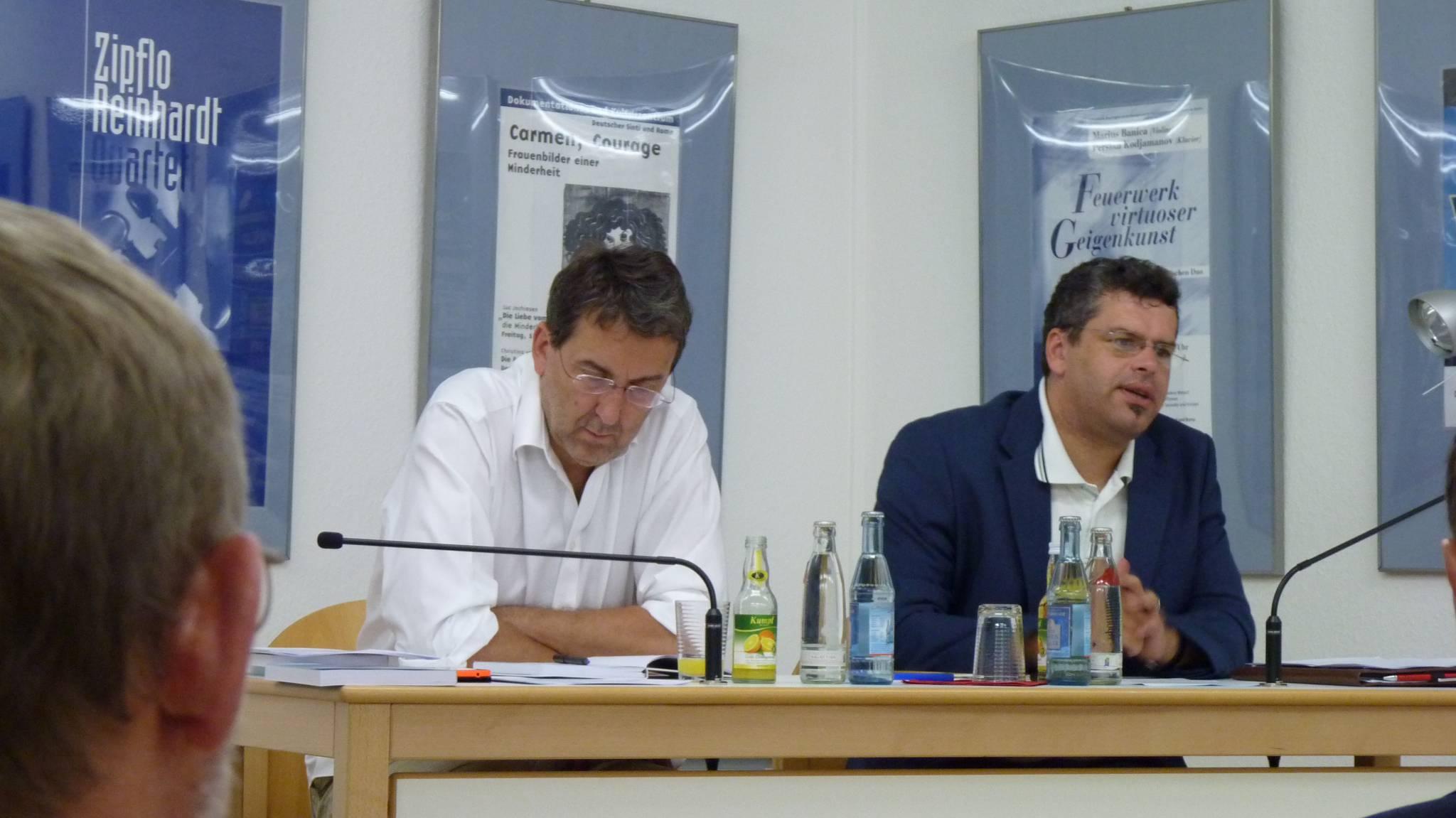 LOStA Jens Rommel, Zentrale Stelle Ludwigsburg, und Herbert Heuß, Wiss. Leiter des Zentralrates, 19.07.2016
