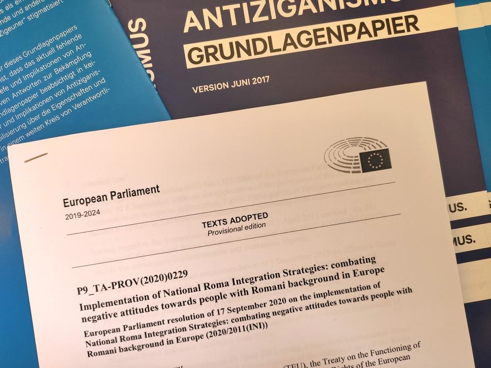Der Entschließungsantrag des Europäischen Parlaments vom 17. September 2020.