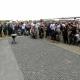 Teilnehmer der zentralen Gedenkfeier am 2. August 2019 in Auschwitz-Birkenau  © Dokumentations- und Kulturzentrum Deutscher Sinti und Roma / Jarek Praszkiewicz