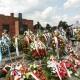 Kranzniederlegung bei der zentralen Gedenkfeier am 2. August 2019 in Auschwitz-Birkenau  © Dokumentations- und Kulturzentrum Deutscher Sinti und Roma / Jarek Praszkiewicz
