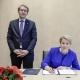 Bundesministerin Dr. Giffey unterzeichnet die Bund-Länder-Vereinbarung zum Erhalt der Grabstätten NS-verfolgter Sinti und Roma  © Zensen / Zentralrat Deutscher Sinti und Roma