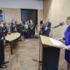 Ansprache von Bundesministerin Dr. Giffey  im Anschluss an die Unterzeichnung  © Zensen / Zentralrat Deutscher Sinti und Roma