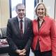 Romani Rose mit der Direktorin des Bundesrats, Dr. Ute Rettler © Zensen / Zentralrat Deutscher Sinti und Roma
