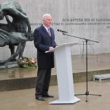 Ansprache des Vizepräsidenten des Landtages von Brandenburg, Dieter Dombrowski © Zentralrat Deutscher Sinti und Roma