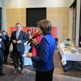 Empfang im Bundesrat im Anschluss an das Gedenken, rechts im Bild Bundesratspräsidentin Malu Dreyer © Zentralrat Deutscher Sinti und Roma